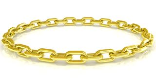 Golden chain background Royalty Free Stock Photography