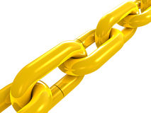 Golden chain close up Royalty Free Stock Photos