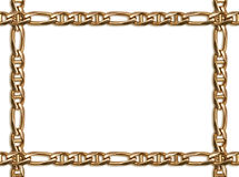 Golden chain frame Stock Image