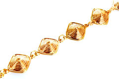 Golden chain isolated Royalty Free Stock Images