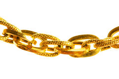 Golden chain isolated. On the white background Stock Photo