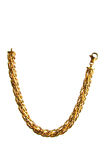 Golden chain isolated Stock Photography