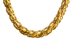 Golden chain isolated Royalty Free Stock Photos