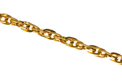 Golden chain isolated Stock Image
