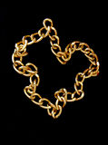 Golden chain isolated Royalty Free Stock Photo