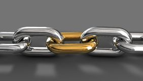 Golden Chain Link Royalty Free Stock Photos