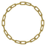 Golden chain links circle Stock Image