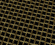 Golden chain mail ring pattern. Gold rings linking pattern, chain mesh with reflective texture with more fashionable luxury than military style. Additional PNG vector illustration