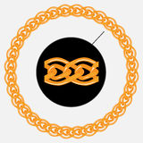 Golden chain pattern and shape of circle Stock Image
