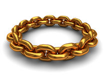 Golden chain ring Royalty Free Stock Photo