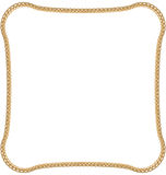 Golden Chain  on White Background Royalty Free Stock Images