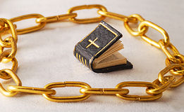 Golden chains Stock Image