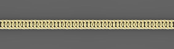 Golden chains on gray background 3d render. Golden chain on a gray background 3d render. Wide banner with golden chain, isolated object vector illustration
