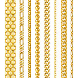 Golden Chains Set Royalty Free Stock Images