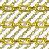 Golden chains with white background seamless texture Royalty Free Stock Photo