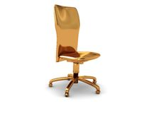 Golden chair Royalty Free Stock Image