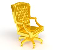 Golden chair Stock Photo