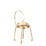 Golden chair from muzzle. Royalty Free Stock Image