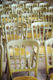 Golden Chairs Royalty Free Stock Images