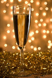 Golden champagne. Stock Photos