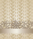 Golden champagne colour floral book cover Royalty Free Stock Images