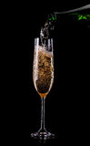 Golden champagne in glass Royalty Free Stock Photography