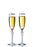 Golden Champagne for the special occasion Royalty Free Stock Photography