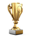 Golden champion Cup isolated on white background.  Stock Photos