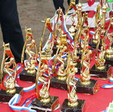 A golden champion trophy cup Stock Photography