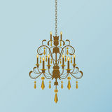 Golden Chandelier Royalty Free Stock Photography