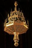 Golden chandelier. Golden isolated chandelier in Timisoara's orthodox Cathedral Stock Photography