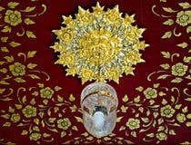 Golden chandelier Royalty Free Stock Image