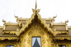 Golden Chapel in Wat Rong Khun Stock Photo