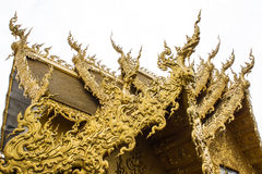 Golden Chapel in Wat Rong Khun Royalty Free Stock Images