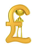 Golden character with pound Stock Photography
