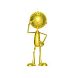 Golden character with salute Royalty Free Stock Photography