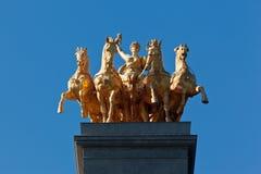 Golden Charriot Parc de La Ciutadella Barcelona Stock Image