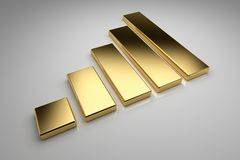 Golden Chart Royalty Free Stock Image