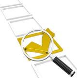 The golden check mark Royalty Free Stock Photos