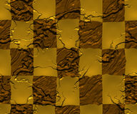 Golden checkers Royalty Free Stock Images