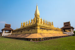 The golden cheddi in Wat Thadlaung Royalty Free Stock Photography