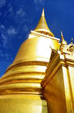 Golden Chedi. A huge golden Chedi in the Grand Palace complex. Bangkok, Thailand Royalty Free Stock Photography