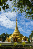 Golden chedi in Chiangmai. Stock Photo