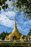 Golden chedi in Chiangmai. Stock Photo