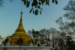 Golden chedi in Chiangmai. Stock Photography