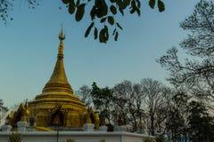 Golden chedi in Chiangmai. Golden chedi in Chiangmai, Thailand Stock Photography