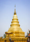 Golden chedi. In lampoon northern of thailand Royalty Free Stock Image