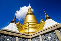 Golden Chedi, Royal Palace Bangkok stock photography