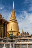 Golden Chedi and Scale Model of Angkor Wat stock photos