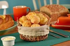 Golden cheese bread balls Royalty Free Stock Photos